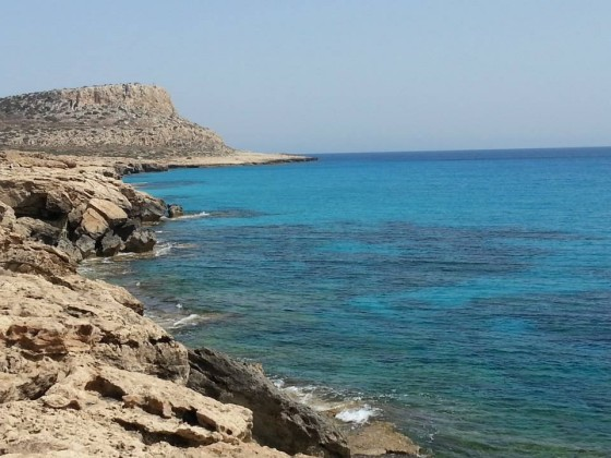 Cyprus' cobalt waters, near the beach city of Agia Napa.