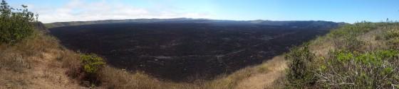A panorama of Sierra Negra's caldera.