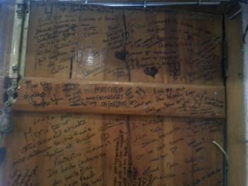 Just a of the happy testimonials written on Paulo's door