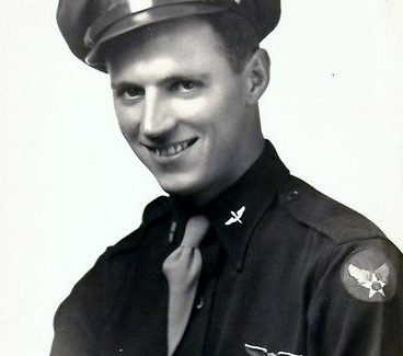 Frank J. Yetter, Jr., in his wartime uniform photo, early 1940s